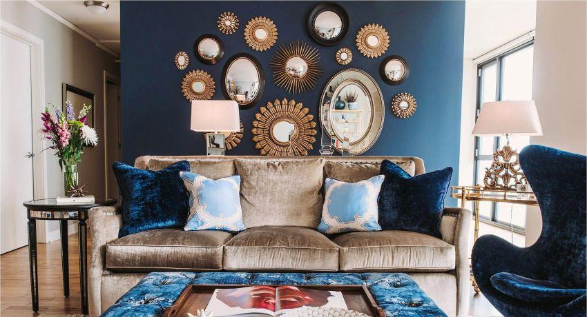 Синие обои: мрачный интерьер или благородный дизайн