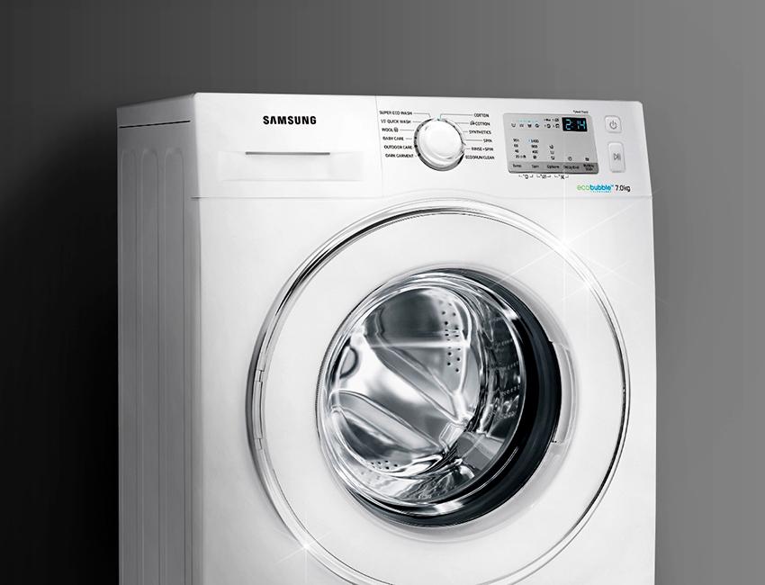 Samsung WD5500K относится к наиболее низкому классу потребления – А+++