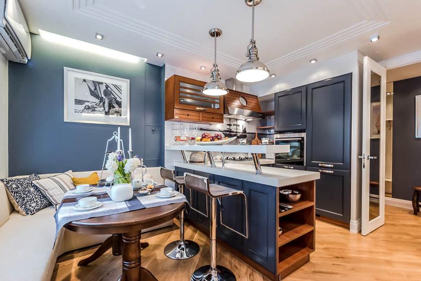 Чтобы на кухне обеспечить достаточное количество сидячих мест, желательно приобрести круглый обеденный стол