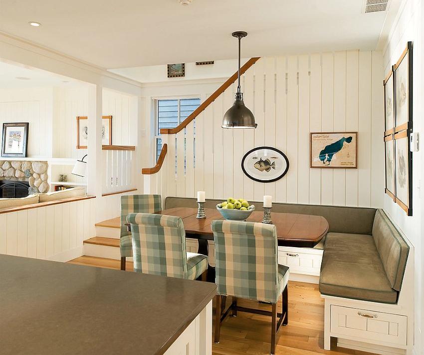 Настоящей находкой для компактной комнаты станет кухонный угловой диван с ящиками