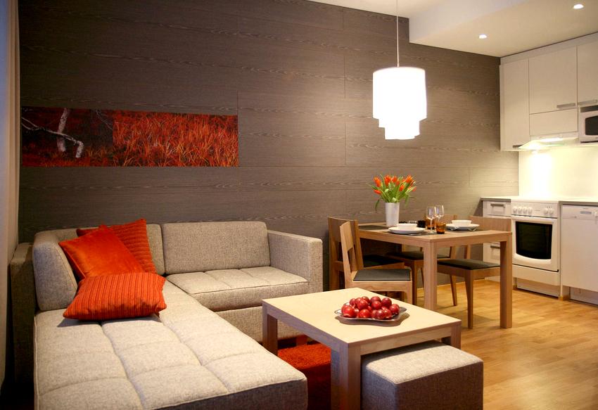 Диван-кровать для кухни с угловой конструкцией решает проблемы с размещением гостей на ночь