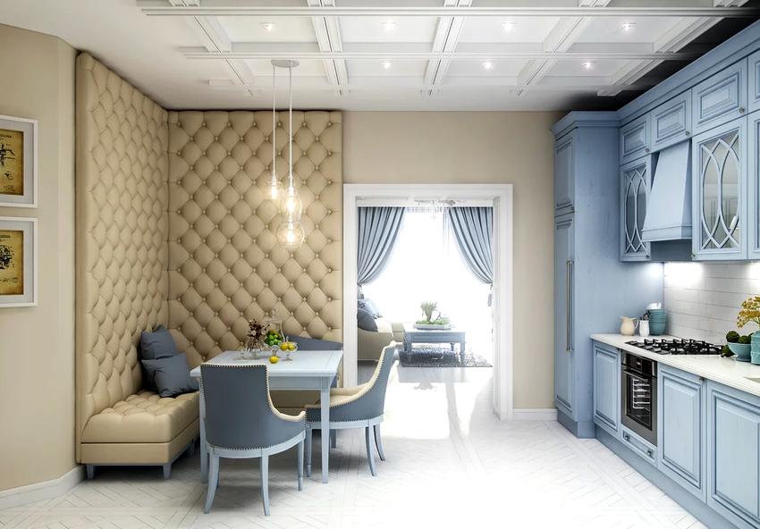 Угловой диван можно сделать основным элементом интерьера