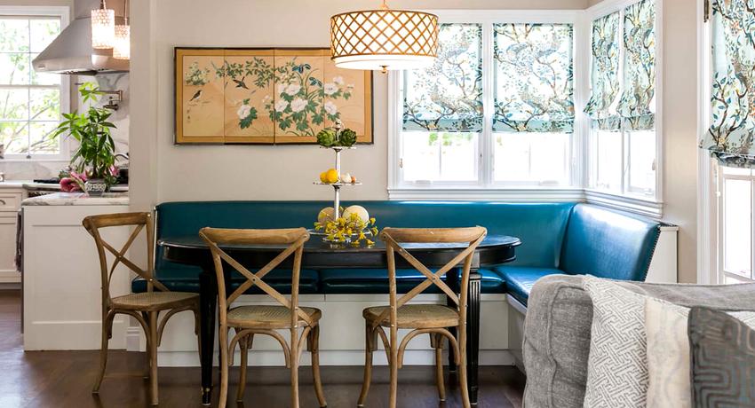 Угловой диван на кухню с эргономичным и стильным дизайном