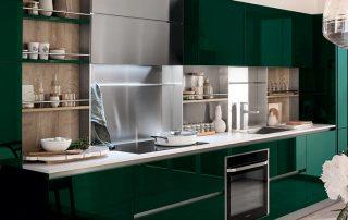 Зеленая кухня: эффектный, сочный и позитивный интерьер