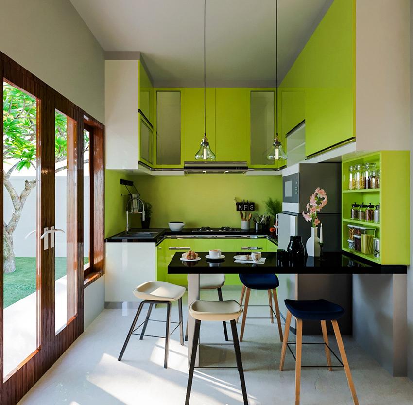 Салатовый цвет отлично комбинируется с другими оттенками