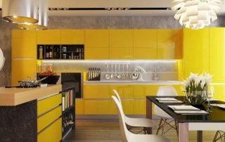 Желтые кухни: идеальное сочетание в солнечном интерьере