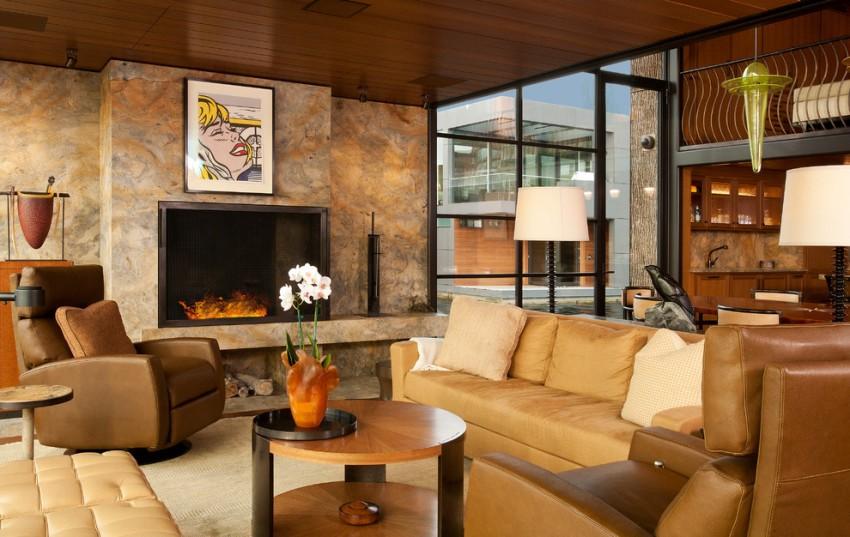 Модульным диванам можно придать красивый изгиб, а также при желании разделить их на отдельные секции