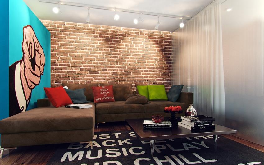 Если разложить диван в гостиной, то получится полноценное спальное место для нескольких человек