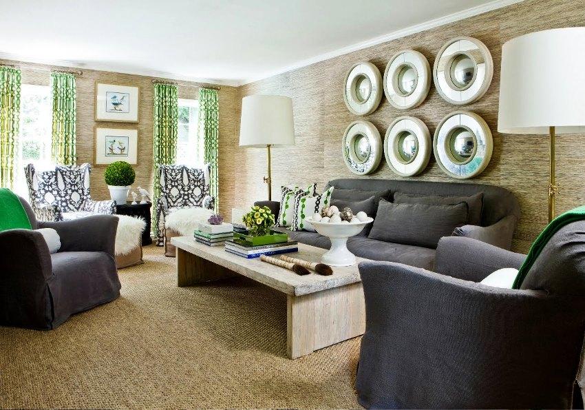 Выбор декора для стены зависит от общего стилевого направления, наполнения остальных зон и предпочтений хозяев