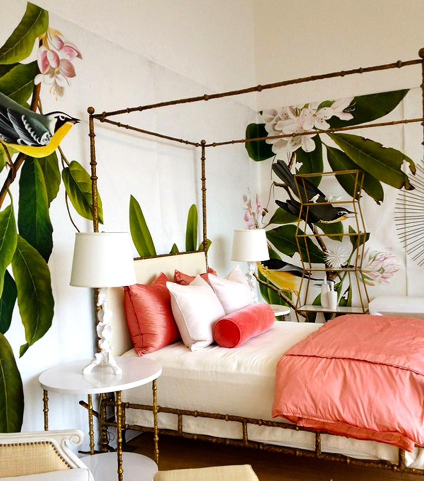 Фотообои должны дополнять и подчеркивать интерьер спальни