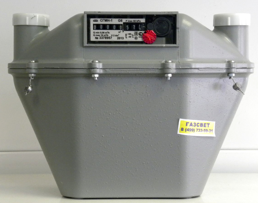 На стоимость счетчика газа влияет пропускная способность и механизм подсчета