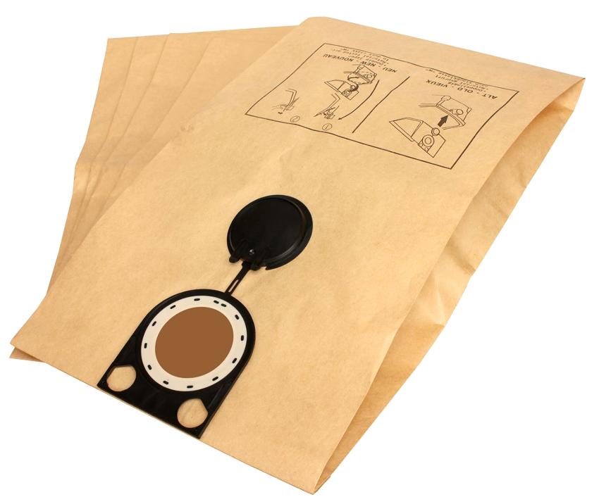 Бумажные мешки улавливают даже очень мелкие частицы пыли