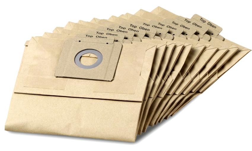 При использовании бумажных мешков, с уборкой крупного мусора нужно быть осторожным