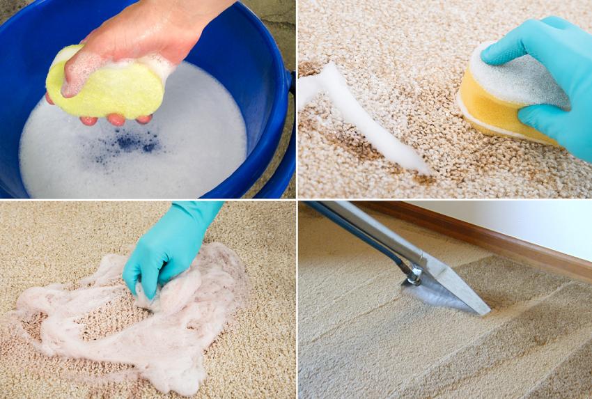 Для чистки ковров с высоким ворсом следует использовать моющие средства в виде пены