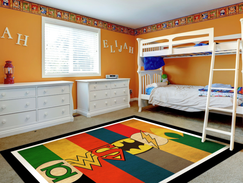 Большие ковры применимы для значительных размеров свободной площади