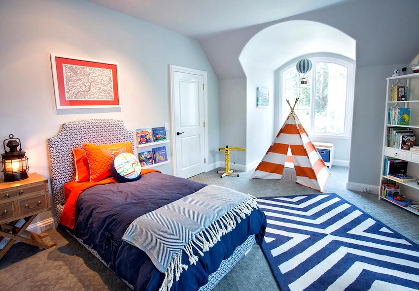 Для мальчишек предлагаются ковры с коротким ворсом, чтобы удобно было передвигать машинки и другой игрушечный транспорт