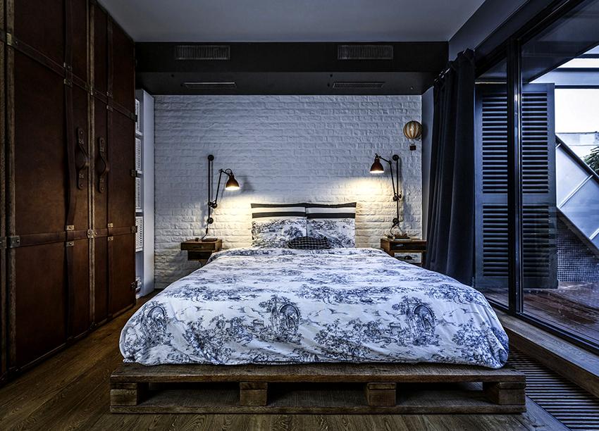 Кровати из поддонов смотрятся стильно и оригинально, при этом их не трудно сделать даже новичку