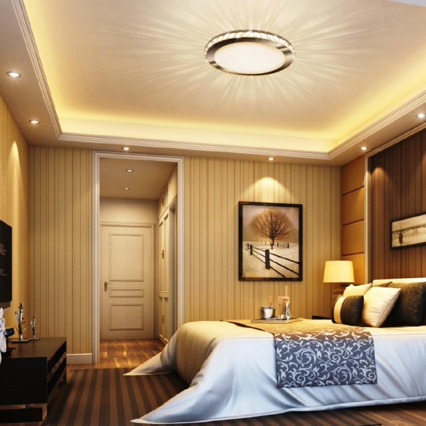 Светодиодные люстры в спальне – это верный способ создать романтическую обстановку