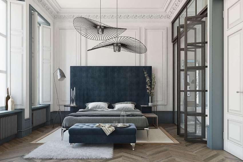 Перед окончательным выбором люстры в спальню следует продумать, как ее комбинировать с другими источниками освещения