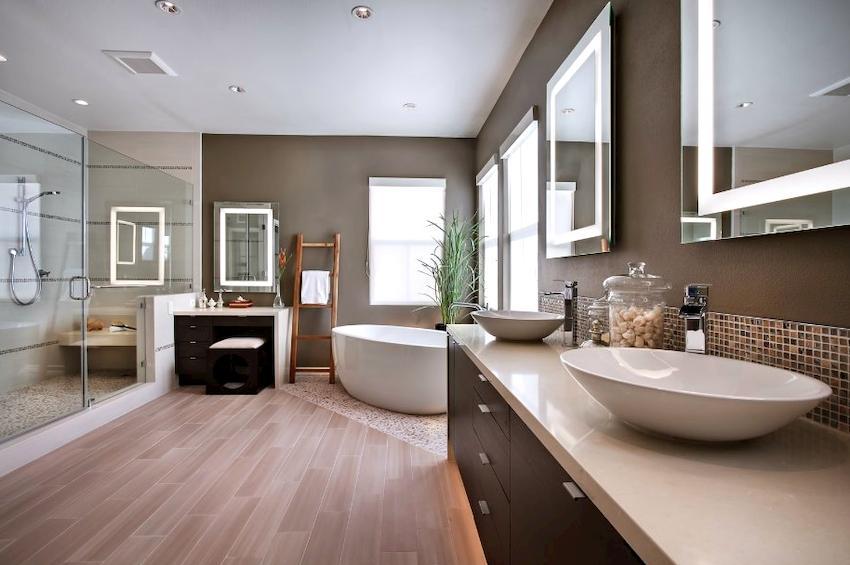 В помещении, которое отличается большими параметрами, не следует устанавливать маленькие элементы мебели