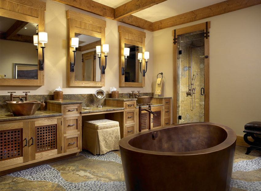 При необходимости можно изготовить мебель в ванную комнату на заказ