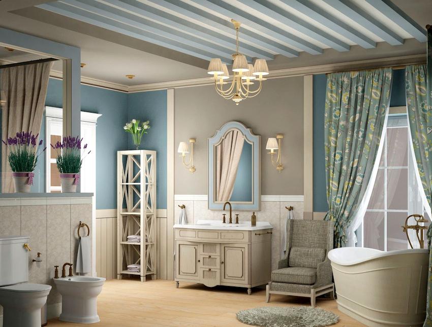 Независимо от размеров ванной, в ней обязательно должно располагаться зеркало