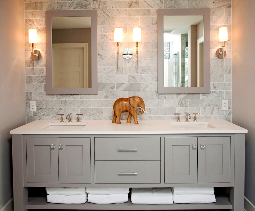 Наиболее востребованным элементом мебели в ванной комнате является тумбочка под раковину