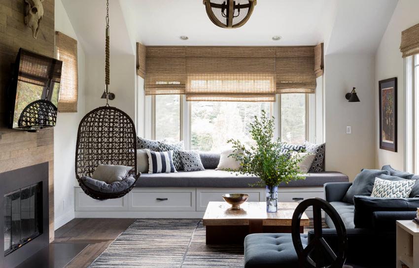Кресло-гнездо является очень удобным, а также эффектно смотрится в интерьере