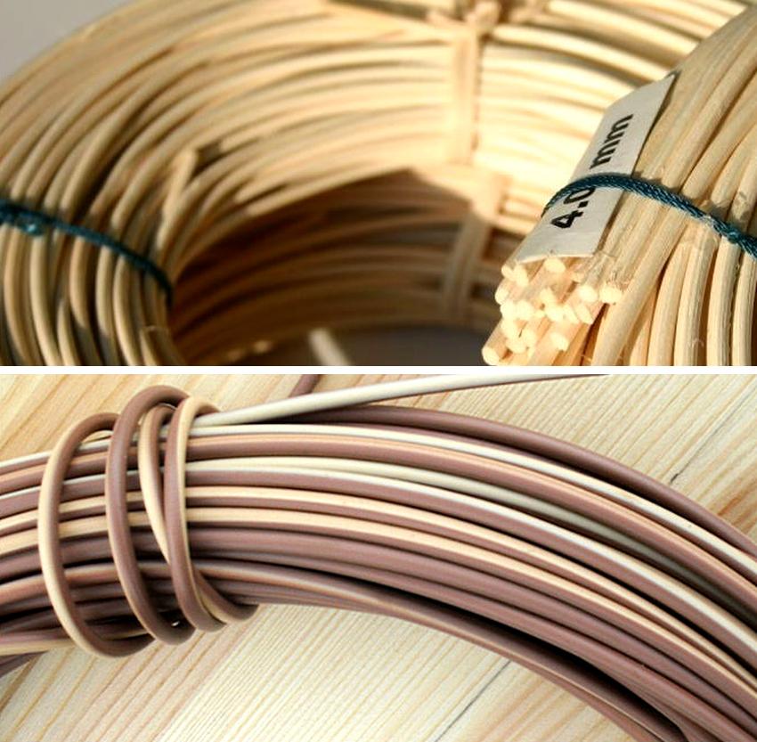 Чтобы прутья стали более гибкими и податливыми к плетению их очищают от коры и отбивают