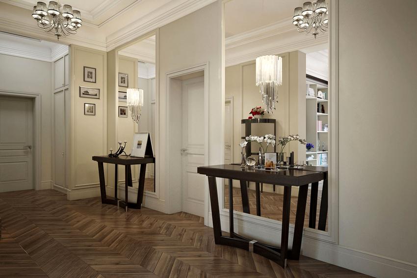 Оптимальное решение для прихожей – максимально большое зеркало или композиция зеркальных конструкций