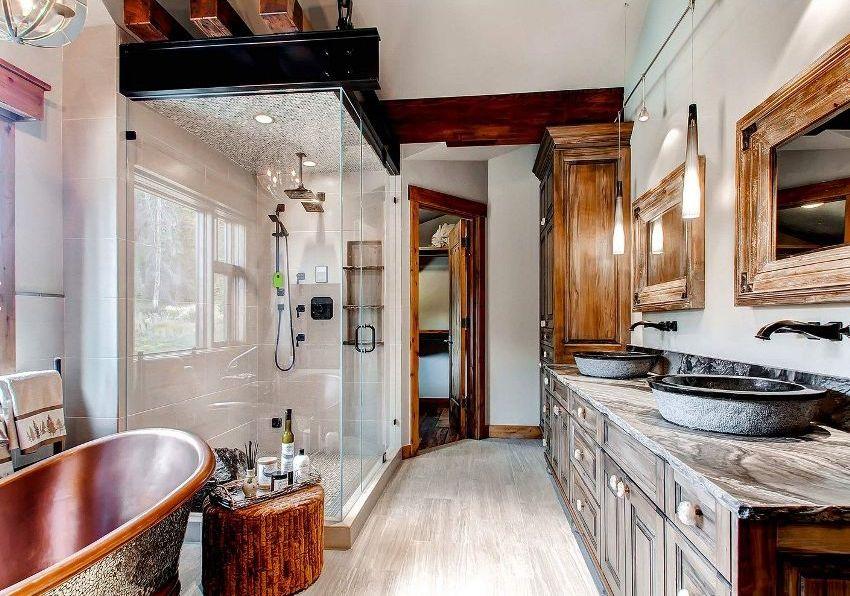 Модели шкафов для ванной комнаты можно легко подобрать под любой стиль с учетом габаритов и цвета