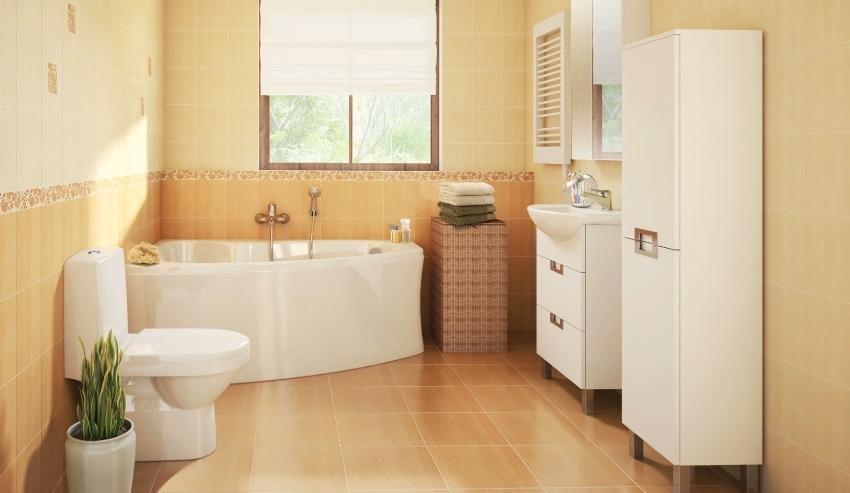 Кроме дерева, для изготовления шкафчиков в туалет, часто применяют пластик