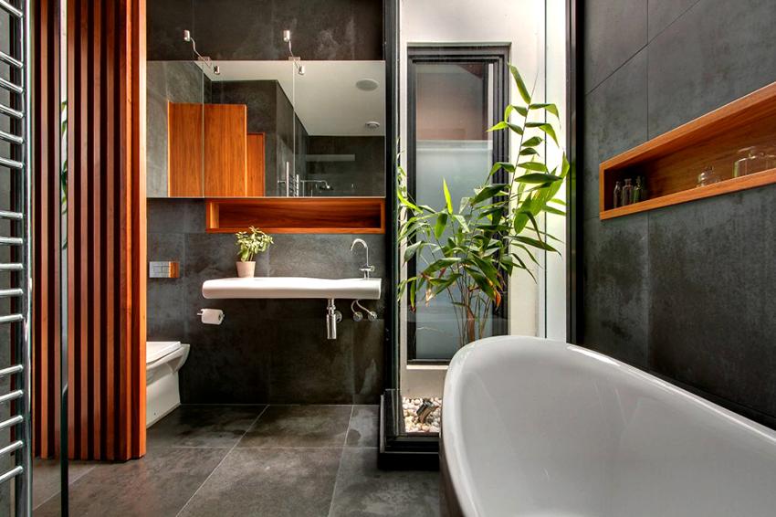 Зеркальный шкаф позволяет зрительно увеличить помещение