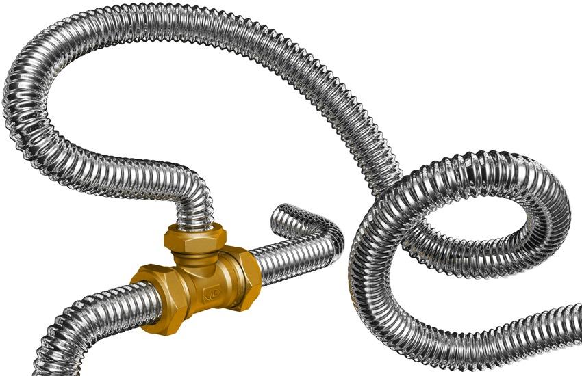 Сильфонная подводка Gigant характеризуются стойкостью к нагрузкам, а ее поверхность не поддается механическому воздействию