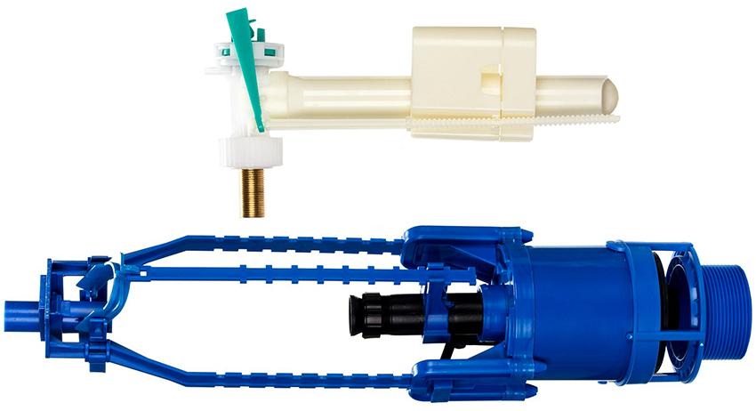 Сливной клапан может быть оснащен мембранным или поплавковым механизмом