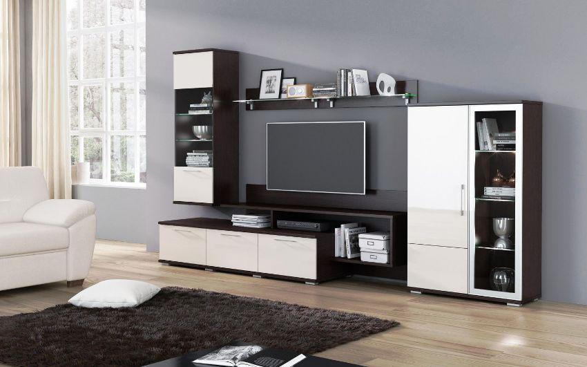 Выбор необходимой комплектации зависит от размеров помещения и функциональной нагрузки, которую несёт модульная мебель