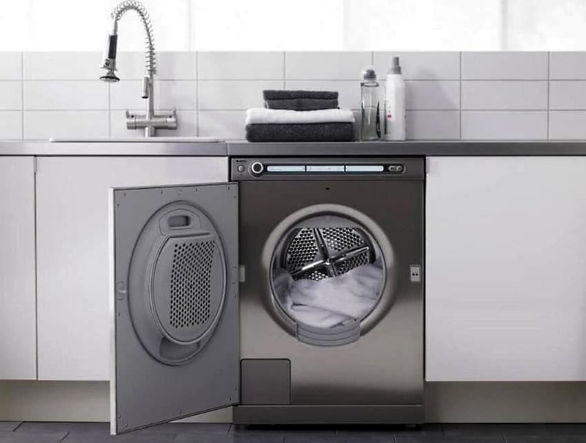 Объем барабана в сушильной машине в среднем составляет 100 литров