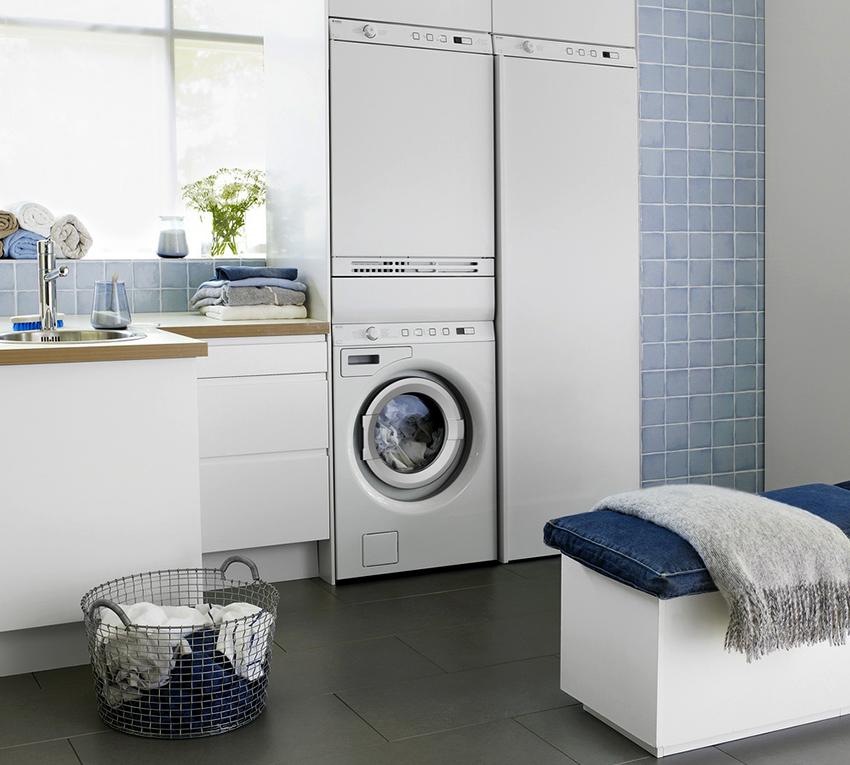 Для установки в колонну необходимо, чтобы параметры сушилки и стиралки были идентичны