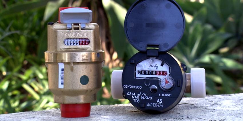 Установка приборов учета воды может производиться на трубы с разными показателями диаметра
