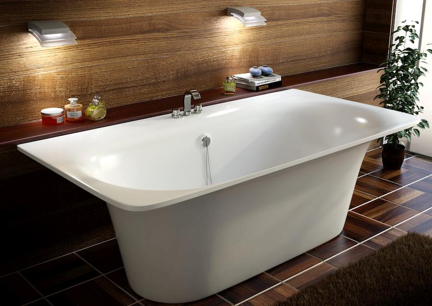 Стальные модели являются альтернативой чугунным ваннам и больше всего схожи с акриловыми изделиями