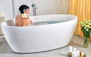 Ванна отдельностоящая: нотки роскоши и шика в дизайне ванной комнаты