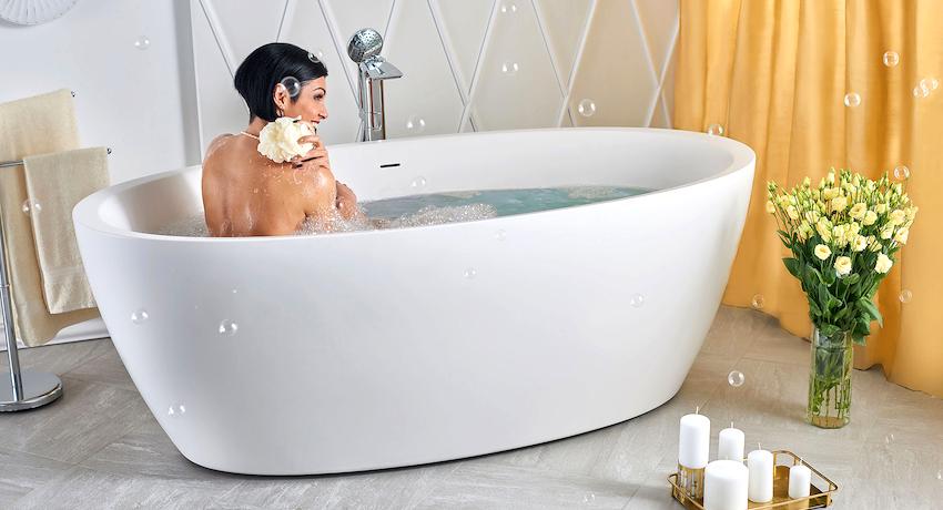 Ванна отдельностоящая: нотки роскоши и шика в дизайне ванной комнат