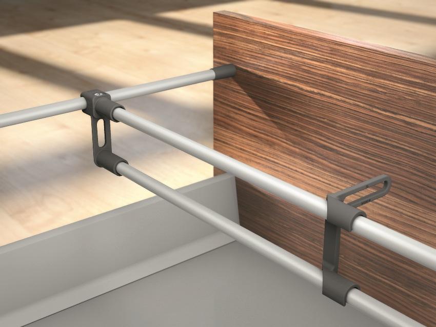 Доводчики для выдвижных ящиков кухни устанавливаются на метабоксы