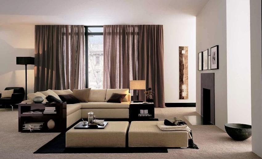 Потолочные карнизы для штор, устанавливаются с использованием различных декоративных элементов, чтобы скрыть сам механизм крепления и сделать комнату еще более привлекательной