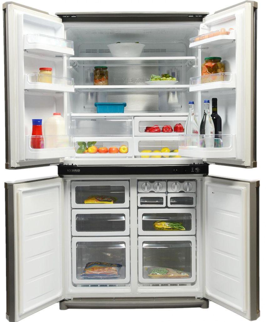 Японский производитель Sharp не отличается массовыми выпусками, но изготавливает качественные современные холодильники
