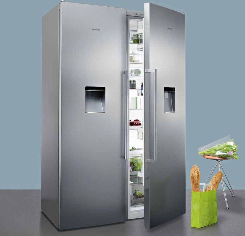 Холодильник side by side Siemens имеют антибактериальное покрытие AirFreshFilter и режимы быстрой заморозки