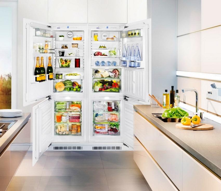 В холодильниках Леран установлена система No Frost, которая предотвращает обледенение продуктов