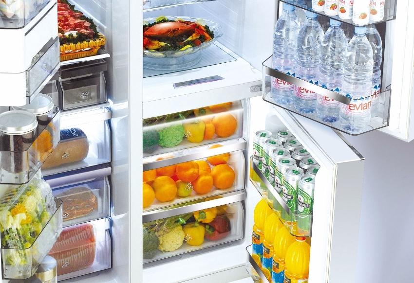 Двойные холодильники Daewoo side by side имеют довольно большие объемы, которые достигают 800 литров