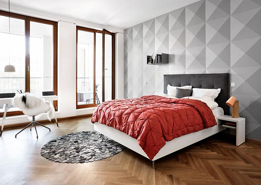 Изголовье может подчеркнуть уют спальни или добавить завершенности дизайну комнаты
