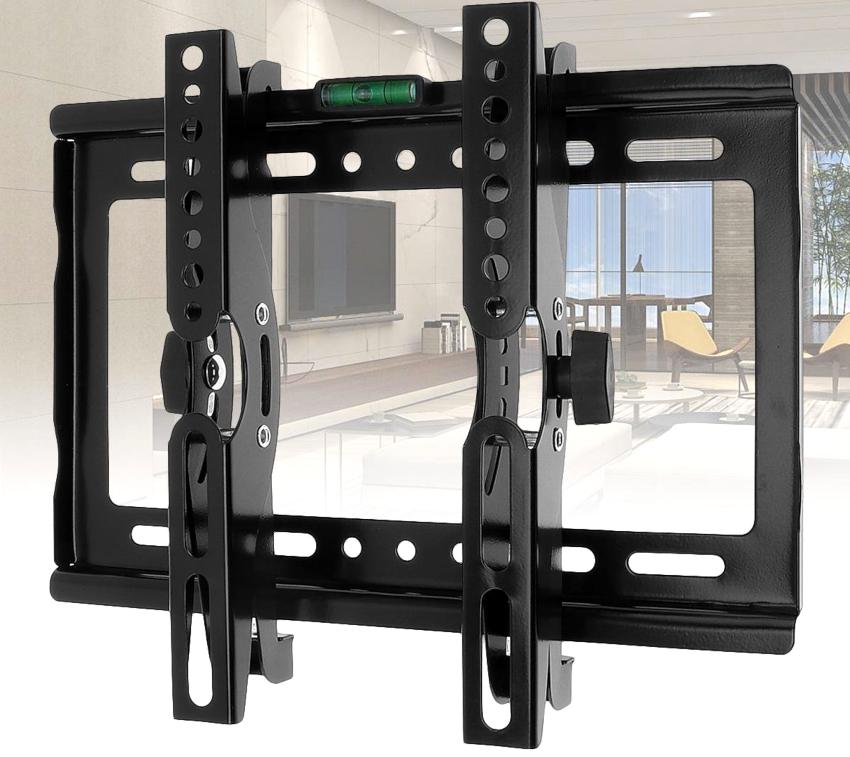 При покупке кронштейна также необходимо знать точное расстояние между отверстиями на задней стенке телевизора